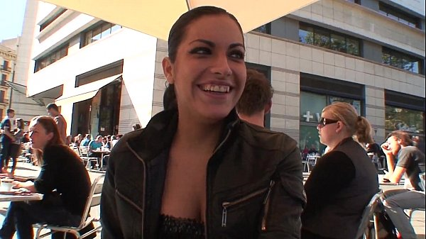Flirting On The Street With Awesome Latina